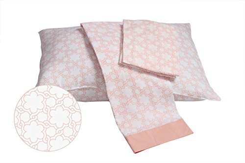 Bacati Floral Muslin 3 Piece Toddler Bedding Sheet Set, Coral by Bacati