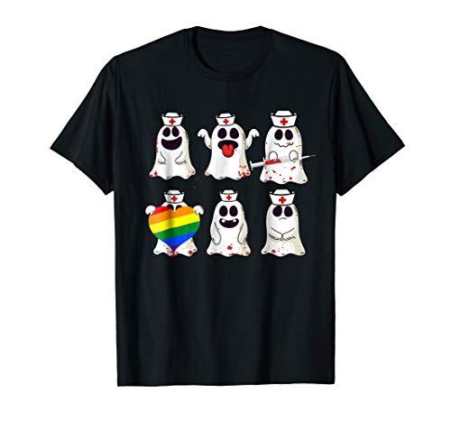 Funny Shy Lesbian Nurse Ghost tshirt Halloween Costume tee