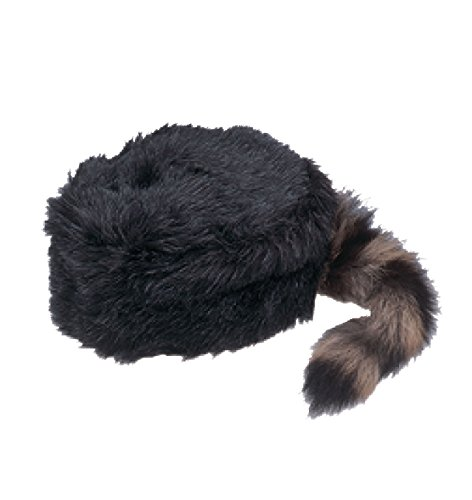 Jacobson Hat Company Child's Coonskin Hat, Black, Large