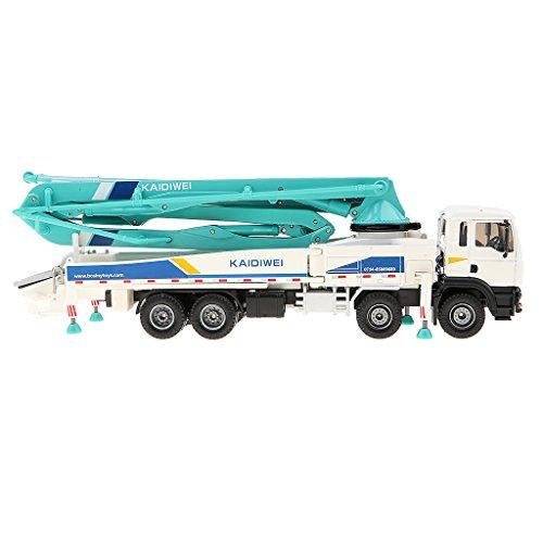 Perfk 合金 プラスチック 1:50スケール ポンプ車モデル 車両玩具 子供 ギフト 全2色 - ホワイトの商品画像