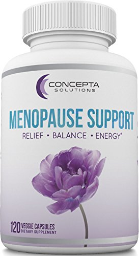 Concepta Menopause Relief Supplement (60 Day Supply), Natural Menopausal Relief for Hormone Balance, Mood Swings, Hot Flashes & Cold Sweats, Weight Management & Energy - 120 Capsules