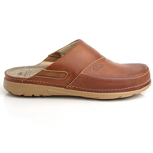 Mens Leather Backless Shoes