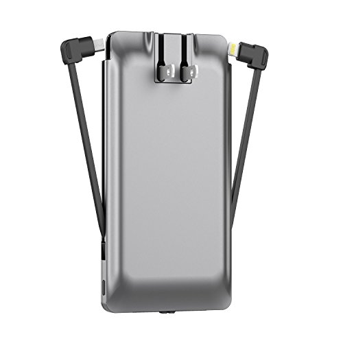 - PhoneSuit Journey Pro All-in-One (6-in-1) Wall Charger, External Battery Pack, Lightning, Type-C, Micro-USB for Samsung Galaxy/iPhone X/ 8/ Plus/ 7/ Plus/ 6/ Plus/LG/ Pixel