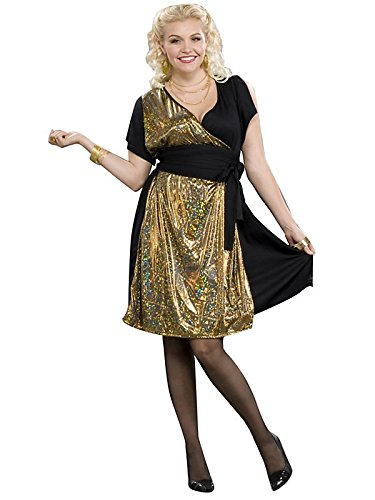 60s 70s Plus Size Dresses, Clothing, Costumes Plus 70s Foxy Disco Party Girl Costume Dress X-Large 18-22 $25.99 AT vintagedancer.com