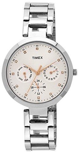 Timex E-Class Analog Silver Dial Women's Watch – TW000X204