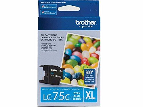 Brother LC75C High Yield Cyan Cartridge