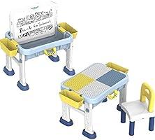 deAO Banco Didattico Portatile per Bambini Centro attività 3in1 Tavolo Multiuso per l'Apprendimento e creatività dei...