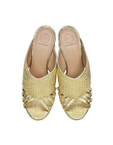 Tory Burch Mujer 33942701O Oro Cuero Sandalias