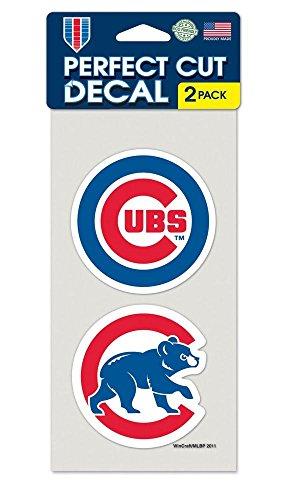 Chicago Cubs Set of 2 Die Cut (Chicago Cubs Sticker)