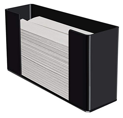 Kantek Acrylic Paper Towel Dispenser, 11.5-Inch Wide x 4.2-Inch Deep x 6.75-Inch High, Black (AH190B) Acrylic Wall Mount Paper Towel