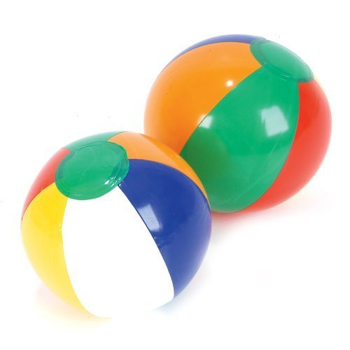 Inflatable Traditional Style Rainbow Novelty Mini Beach Balls Party Pack Favors for Decorations, Weddings, Luaus, Kids Summer Pool Parties, Birthdays, & More, Multicolor - 12 Pack, 6 Inches (Themes For Balls)