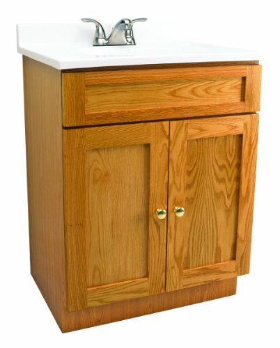 Design House 541649 Vanity Combo Oak Vanity Bathroom Cabinet with 2-Doors, 31-Inch by 19-Inch by 31.5-Inch