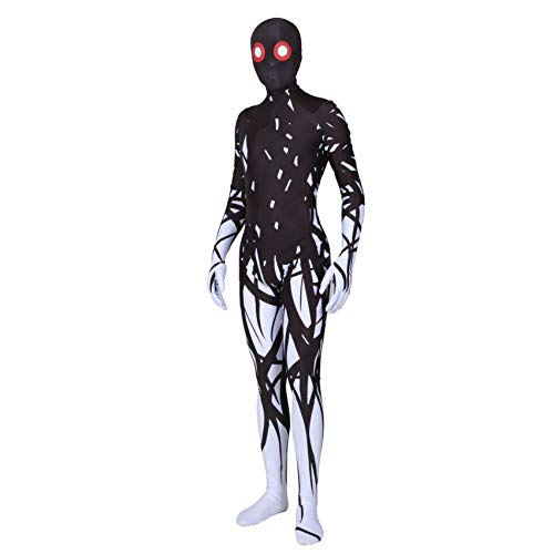 YuanMan Halloween Monster Fancy Dress Costume Adult's and Kid's Creepy Cosplay Suits (Adults-XL, White)]()