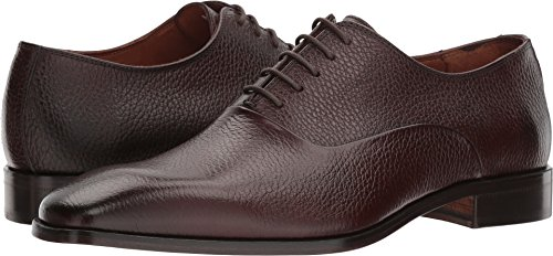 Massimo Matteo Mens Pebbled Oxford Chocolate dq448TCxss