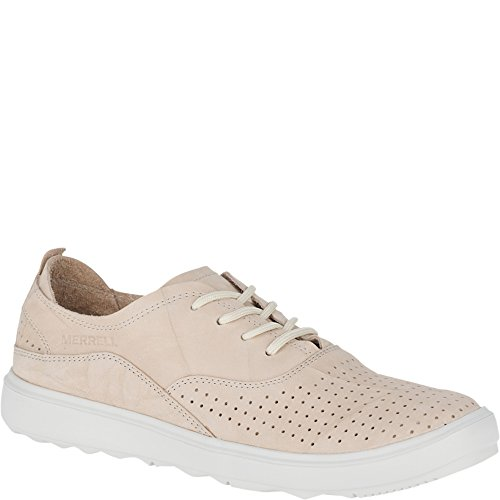 Merrell Women's Around Town City Lace Air Sneaker, Sandstone, 8 Medium US
