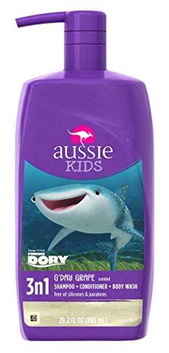 G'Day Grape 3 n 1 Shampoo + Conditioner + Body Wash 29.2 Fl