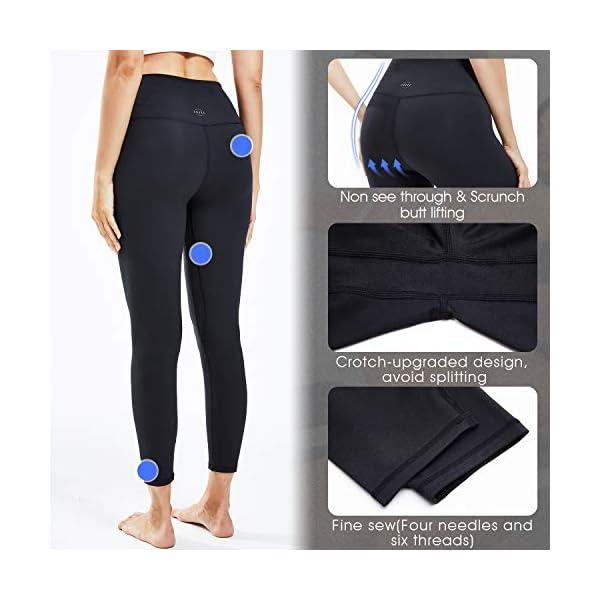 Souke Sports Pantalon de Yoga à Taille Haute pour Femme Anti Cellulite Leggings de Fitness avec Poche Collants de Yoga…