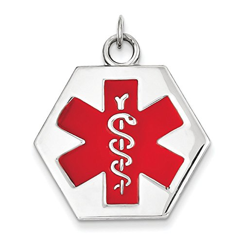 Or blanc 14 carats Medical Jewelry Pendentif