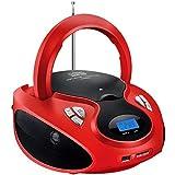 Caixa De Som Multilaser Boombox 20W Rms Vermelha E Preta - SP180
