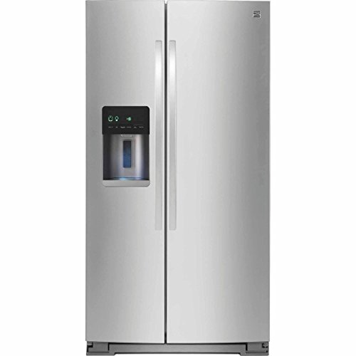 Kenmore 51783 20.6 cu. ft. Counter-Depth Side-by-Side Refrigerator in Stainless Steel, includes delivery and (Frigidaire Optional Ice Maker Refrigerator)