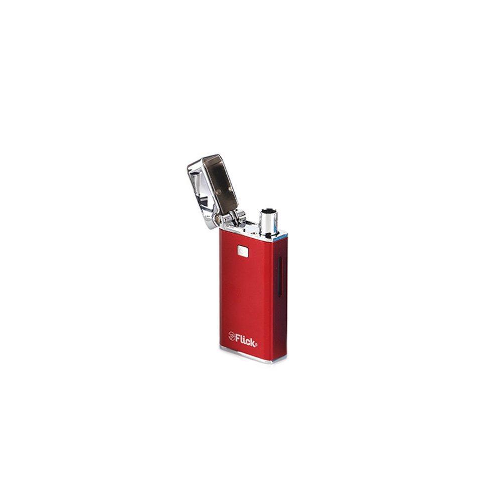 (オイル ワックス両対応) 電子タバコ Yocan FLICK (ヴェポライザー ベポライザー) (レッド) B07DLP6MCK レッド レッド