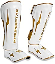 MYSUPERSTARBOXING-Boxing Gear,Muay Thai Fighting and Training Pads, Leg Foot for Martial Arts and Kickboxing M