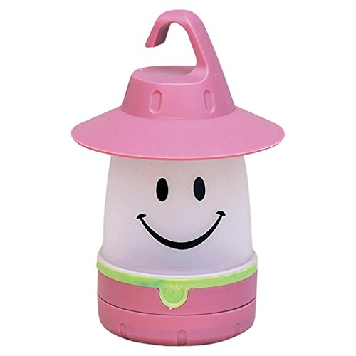 Smile LED Lantern: Portable Night Light For Kids (Peach)