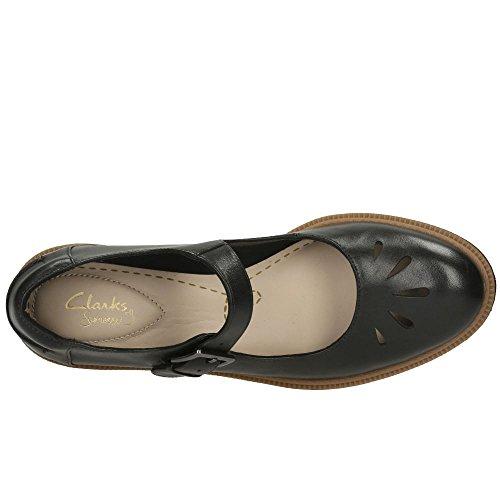 Clarks Casual Mujer Zapatos Griffin Marni En Piel Marrón Negro