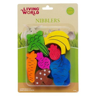 Lw Nibblers Wood (Lw Nibblers Wood Chewsfruit/Veggie Mix by Living World by Hagen)