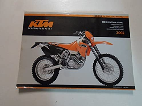 2002 ktm 400 520 sx mxc exc racing owners handbook manual worn minor Cobra Engine Diagram