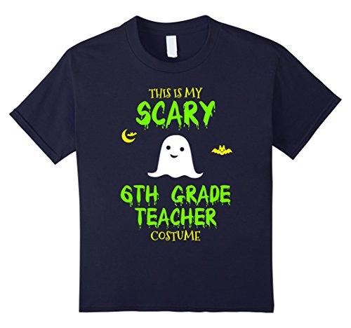 Kids Scary 6th Sixth Grade Teacher Costume Halloween T-Shirt 12 (Halloween Costumes 6th Grade Boy)