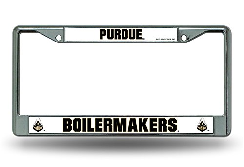 (Purdue Boilermakers NEW DESIGN Metal Chrome License Plate Tag Frame Cover University of)
