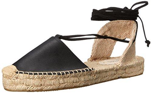 Soludos Women's Platform Gladiator Sandal, Black, 5 B US Black Ankle Wrap