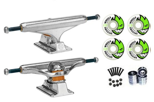 Trucks Skateboard Pair - Independent Silver 139mm Truck 8.0