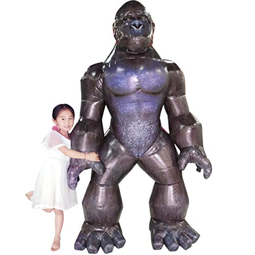 Inflatable Gorilla Clothes Adult Halloween Horror Character Dress Up Props Black