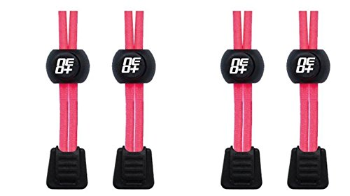 Sets Per Autobloccante Scarpe E Neon Elastici Corsa Lacci Rotondo Pink Confezioni 2 Di Meccanismo Con Triathlon EOtq606w