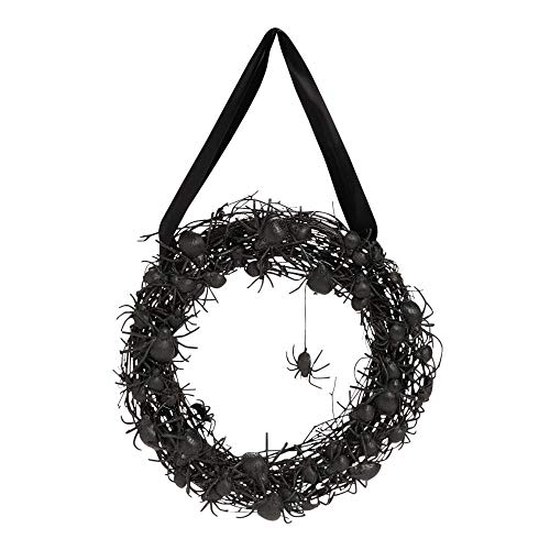 Black Spider Wreath - Wreaths and Floral Decorations by Fun Express