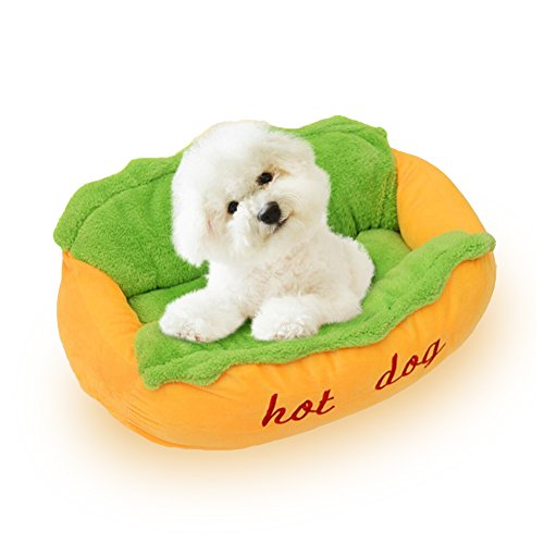 NACOCO Hot Dog Bed Pet Sofa Beds Cat Kennel Washable and Rem
