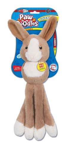 Pawdoodles Squeakies Dog Toy, Rabbit, Small, My Pet Supplies