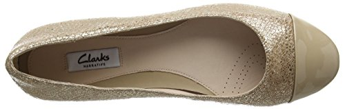 Clarks Festival Gold - Mocasines para mujer Beige (Champagne Combi)