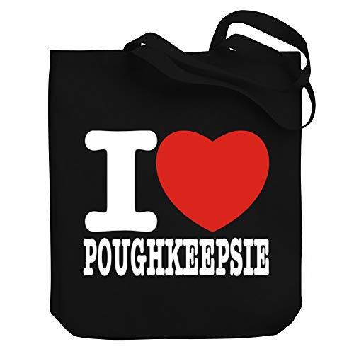 Teeburon I love Poughkeepsie Bold Font Canvas Tote Bag 10.5