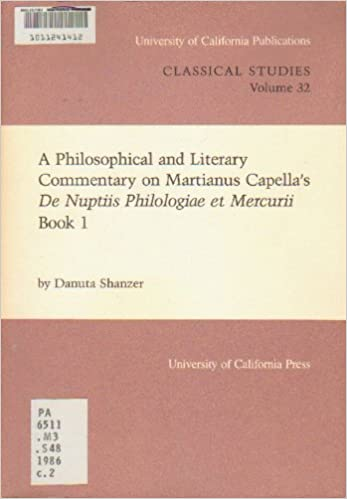 Danuta Shanzer - A Philosophical And Literary Commentary On Martianus Capella's De Nuptiis Philologiae Et Mercurii Book 1: Bk. 1