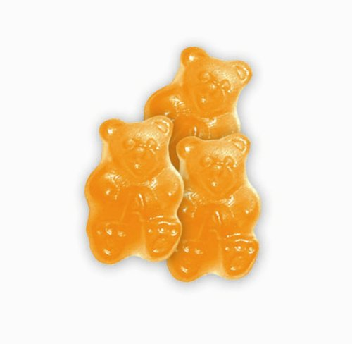 Albanese Ornery Orange Gummi Bears, 5 Pound Bags (Pack of 2)