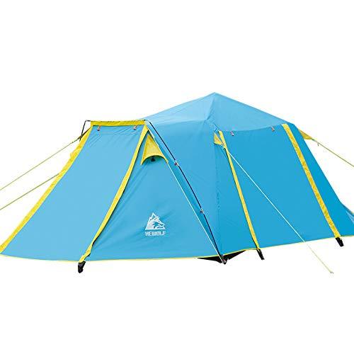 KD EIN-, EIN-, EIN-, EIN-Und EIN-Personen-Zelt, EIN Outdoor-Campingplatz, EIN Fünf-Personen-Automatik Zelt, EIN Viertürer,Blau