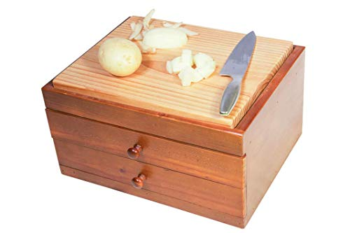 Cutting Board Unit - Wooden - with 2 Drawers - ()