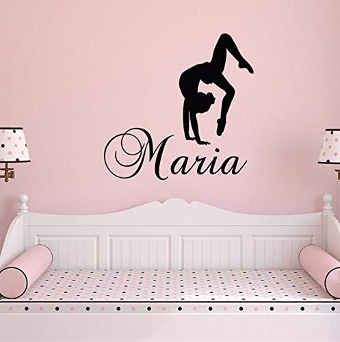 Dalxsh Decal Gymnastics Wall Decal Nursery Vinyl Stickers Dance Studio Quote for Kids Rooms Vinyl Living Poster 40x39cm ()