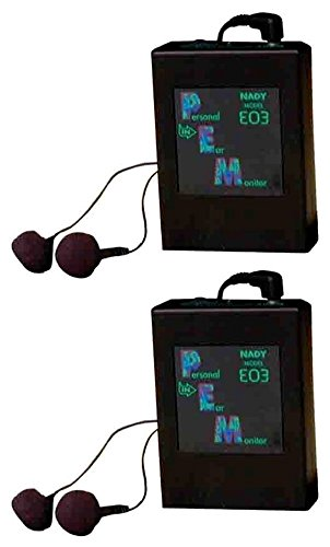 - 2 Nady EO3 RX AA In-Ear Monitor Wireless Receiver 4 EO3 Wireless Monitor System