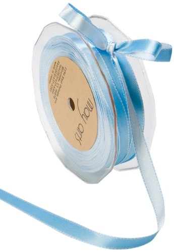 May Arts 3/8-Inch Wide Ribbon, Blue and Light Blue Satin by May Arts