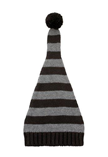 zefen Baby Newborn Unisex Cotton Striped Knitted Hat Beanie Elf Top Pompom -