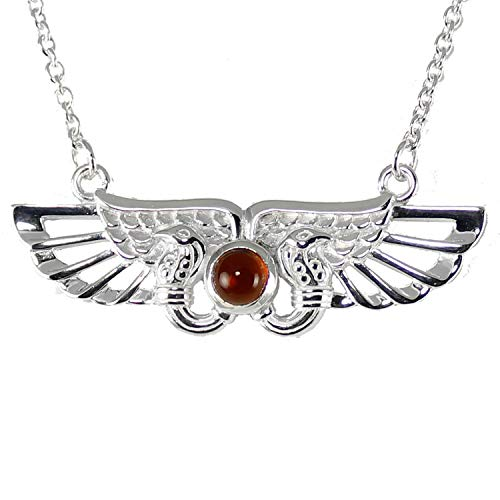 (Ark Angel Jewelry Egyptian Winged Large Solar or Sun Disk Necklace with Extender)